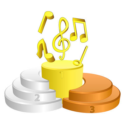 best podium place for music vector